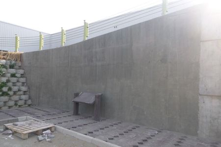 cast in place concrete facing ace geosynthetics ecopark